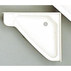 Hoek wastafel 415 x 350 mm Kunststof wit