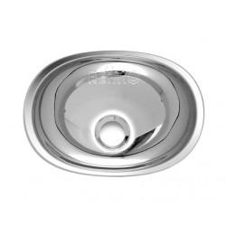 Wasbak ovale roestvrijstalen 432x305x130mm