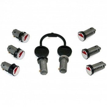 Cilinderslot 1 tot 8 stuks met 2 sleutels ZADI