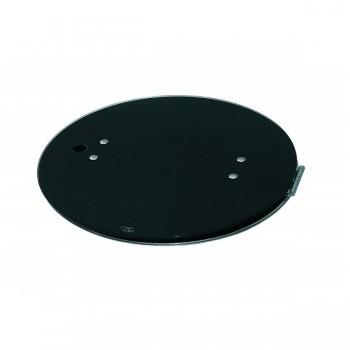 1 pits fornuis-ronde spoelbak combinatie met Gehard glas en RVS