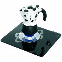 1 pits gaskookplaat Gehard glas en RVS constructie