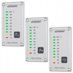 Votronic LED tank Displays voor drinkwater, afvalwater en fecaliën tanks