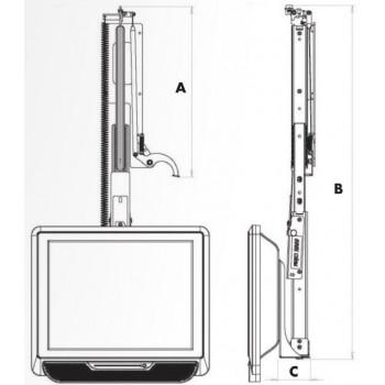 Handmatig vertikaal uitschuifbaar LCD beugel