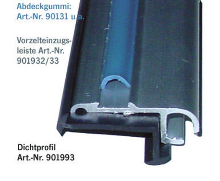 Voortent-intrek profiel aluminium 2m, 27x11mm