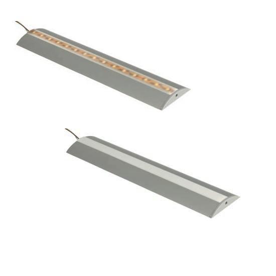 Aluminium profiel voor LED strips halfrond, lengte van 1,5m + 2