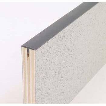 Kunststof kanten bescherming profiel voor meubelbouw 15mm breed