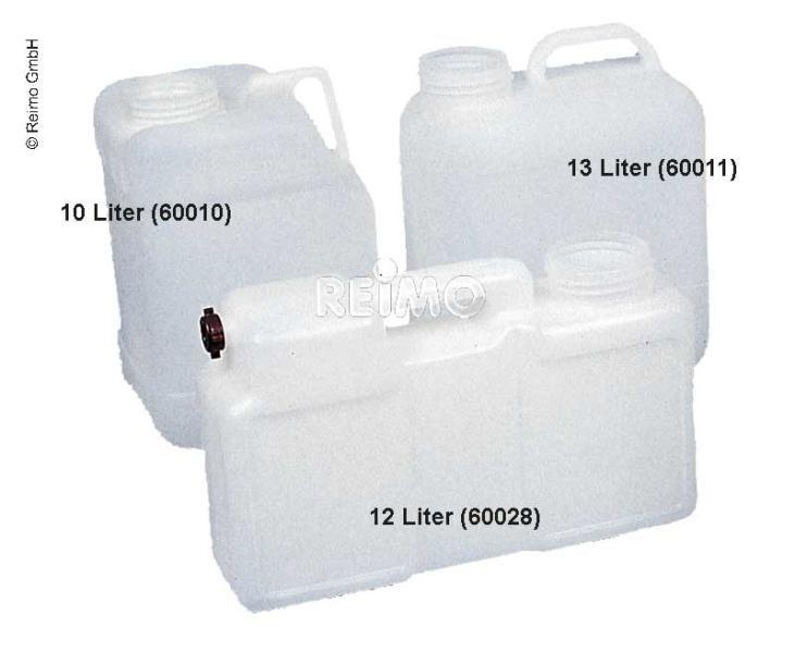 Waterjerrycan brede hals DIN96 10 - 12 -13 - 16 of 19 liter