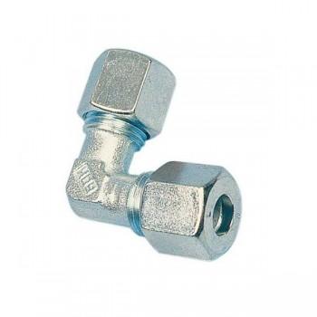 Knelkoppelingen Haaks Gas 8mm of 10mm Staal