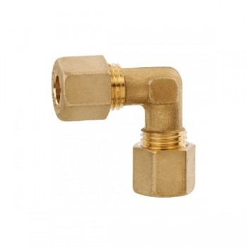 Knelkoppelingen Haaks Gas 8mm Messing