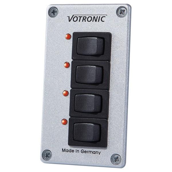 Votronic Schakel Panel met 4 schakelaars en LED's