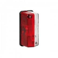 Markeringslamp 12V, rood/wit 92 x 43 x 37 mm