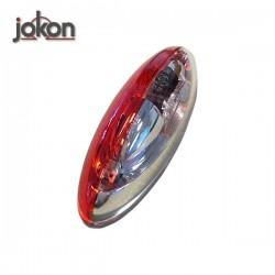 Jokon Markeringslamp 12V op voet, rood/wit 124 x 39 x 32 mm