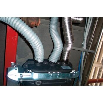 PVC pijp Ø 57 voor hete lucht Standaard lengte: 10 m TSP57