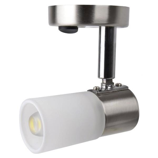 LED 1,5W opbouwspot Mona geborsteld staal warm wit