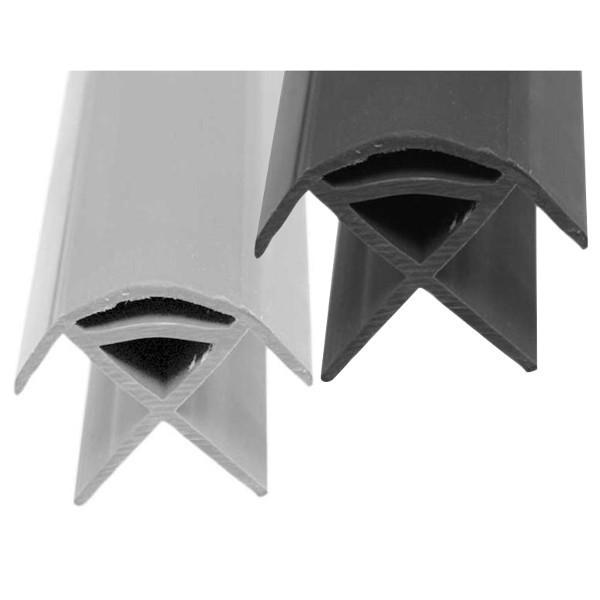 Hoekprofiel Kunststof grijs of donkergrijs