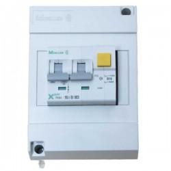16A dubbel polige automaat met aardlek in installatiekast