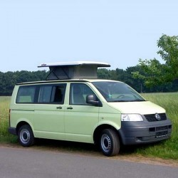 pop-up hefdak VW T6/T5 in wit, rood, blauw en groen