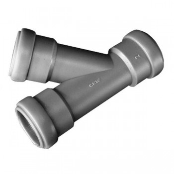 T-stuk 45° voor pijp 28 mm, met afdichtingen