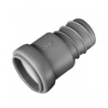 Overgangsslang 28 mm buis naar 28 mm spiraalslang