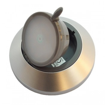 Kantelbare - draaibare Opbouw LED Sensortouch Spot SMD 1W – mat chroom