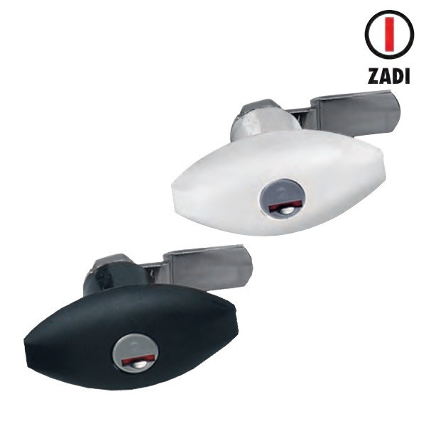 Bagage deur vergrendeling - ellips zwart of wit zonder cilinder
