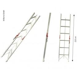 Opvouwbare ladder tot 150kg belastbaar met 6 treden