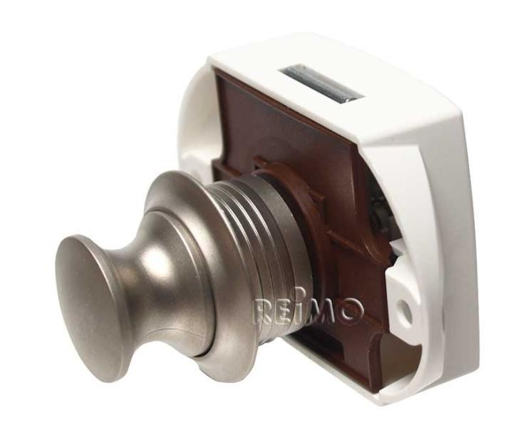 Push-lock silver