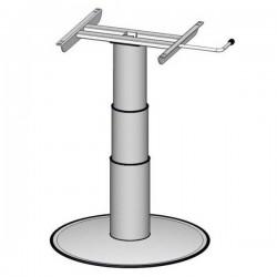 Eén kolom heftafel, hefhoogte: 320-695 mm, grijze telescopische moffen