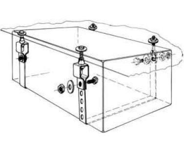Montage-Set voor watertanks