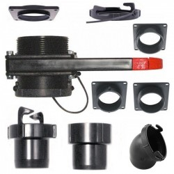 """3 """"Europa System - 3"""" / 76 mm afvalwatersysteem"""