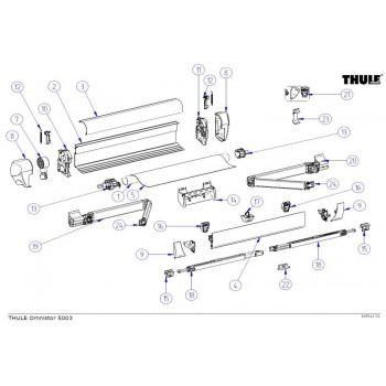 Thule 5003 luifel onderdelen
