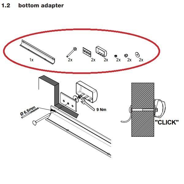 Prostor e-bike lift onderste montage materiaal