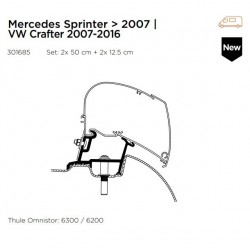Thule Luifel 6200/6300 adapter Sprinter
