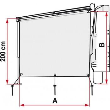 Fiamma Sun View Side voor F45/F65 luifels