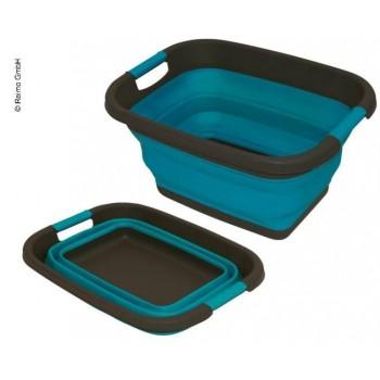 Siliconen vouwmand blauw B49 x T37,5 x H7/26cm