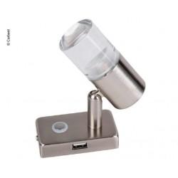LED-spot met touchschakelaar en USB-poort in de voet