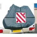 Fietshoes met zak voor waarschuwingsbord