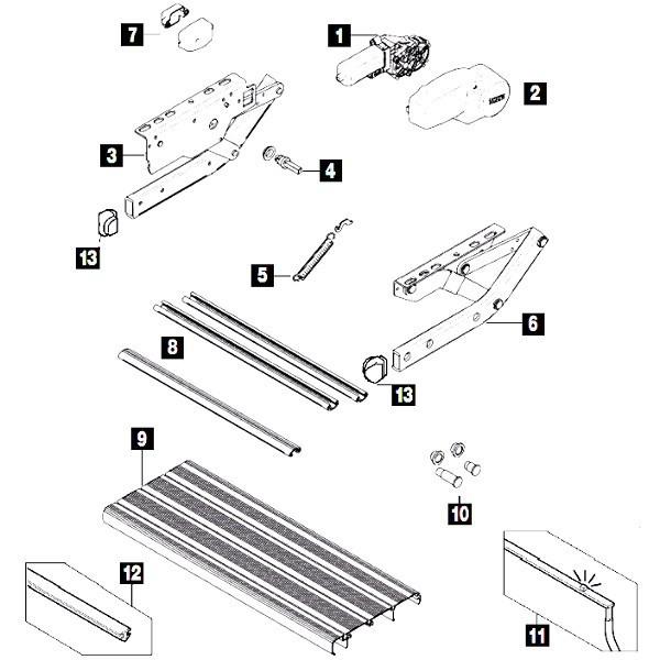Thule Step V10 / V15 parts