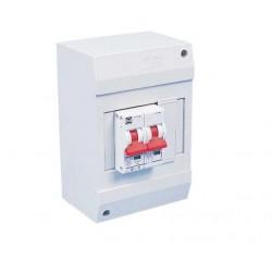 13A dubbel polige automaat in installatiekast