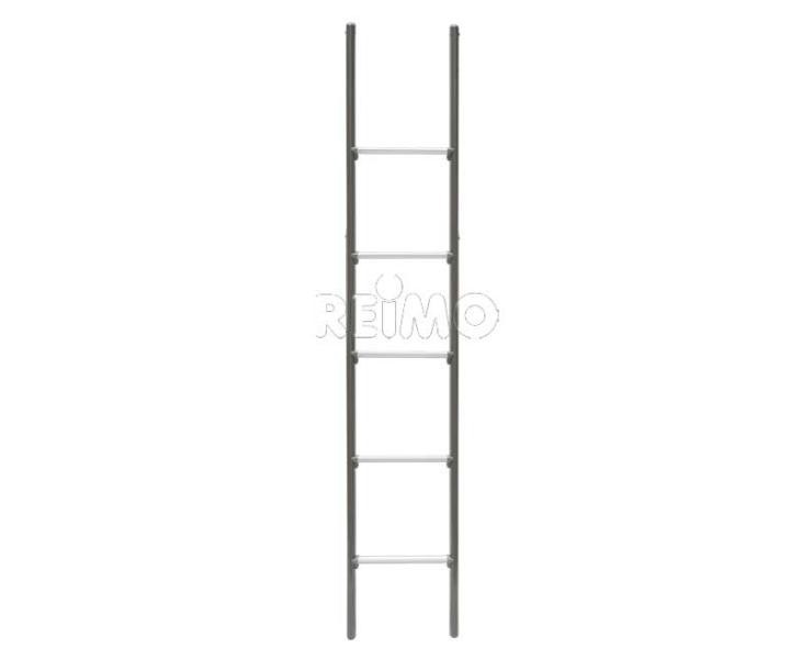 Ladder Alu. 5 treden 130 cm lang 28 cm breed