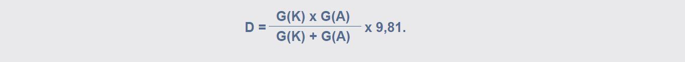 D-waarde Formule