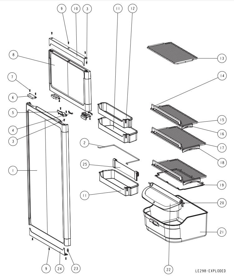 koop onderdelen thetford n145 koelkast