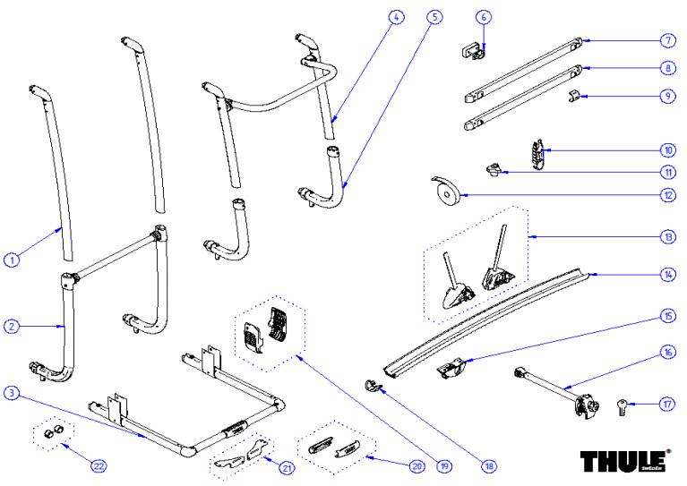 Thule Excellent common parts - LV -  SV